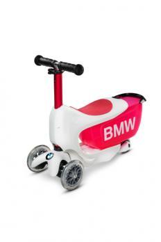 Детский самокат BMW Mini2Go бело-красный